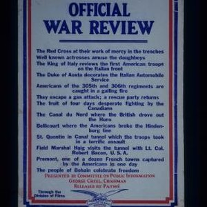 Official War Review. The Red Cross at their work of mercy in ...