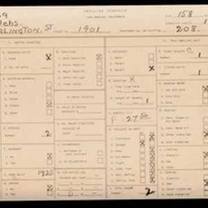 WPA household census for 1401 S BURLINGTON, Los Angeles