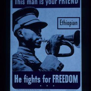 This man is your friend. Ethiopian. He fights for freedom