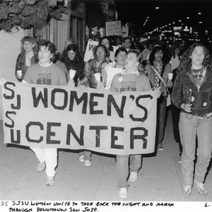 Women marching in protest