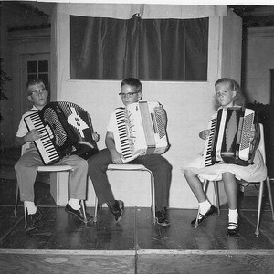 Accordionists at Visalia (Calif.) Public Library, 1963