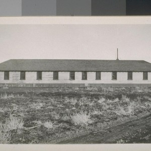 Snapshots taken in Susanville: Lengthwise view of dormitory, Susanville