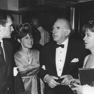 "Ed Begley with his wife and others at ""Molly Brown"" premiere"