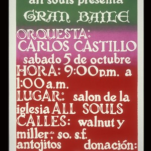 Gran Baile with Orchestra, Announcement Poster for the