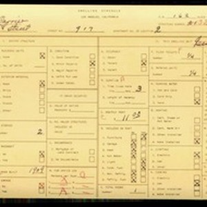 WPA household census for 917 W 11TH ST, Los Angeles