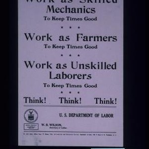 Work as skilled mechanics to keep times good. Work as farmers to ...