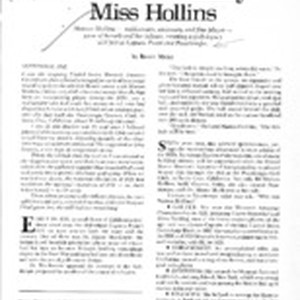 The Extraordinary Miss Hollins