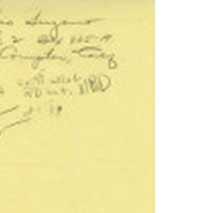 Handwritten note with Toshio Sugano address and lease agreement information, approximately 1939