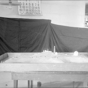 First model of Mount Wilson Observatory under construction