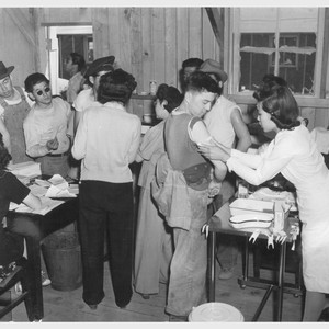 arrival at manzanar