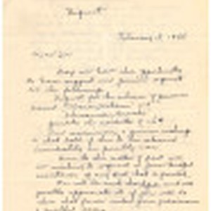 Letter from residents requesting prisoner release, February 18, 1944