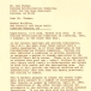 Letter from Edwin Markson of Alpha Beta to Ken Thomas of the ...