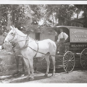 [American Steam Laundry wagon]