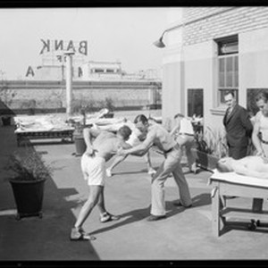 Additional photos on roof of Roosevelt Building, 727 West 7th Street, Los ...
