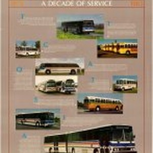 """Ten Year Anniversary: A Decade of Service"" County Transit poster"