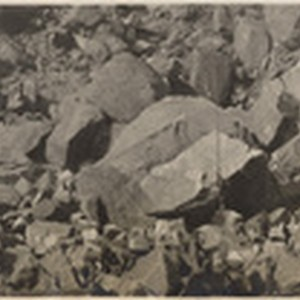 Arndt's quarry showing large quantity of good rock brought down by shot ...