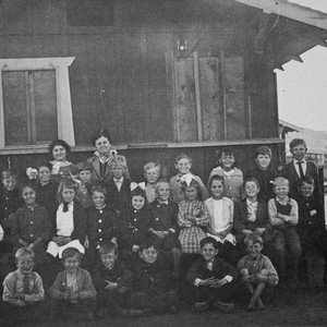Photograph of the first Ynez students