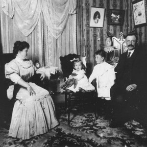 Family in the parlor