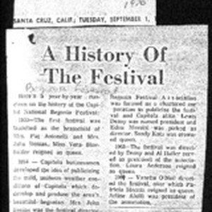 A History Of The Festival