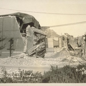 Potter Theater, Santa Barbara Quake, June 29-25 [June 29, 1925]