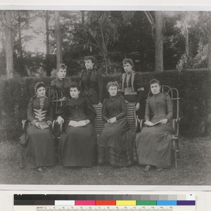 [Group of seven young women, some of whom are identified as Francisca ...
