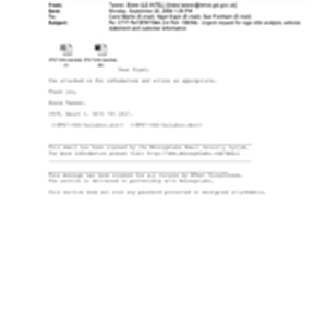 [Email from Blake Tanner to Carol Martin, Nigel Espin, Sue Fordham regarding ...