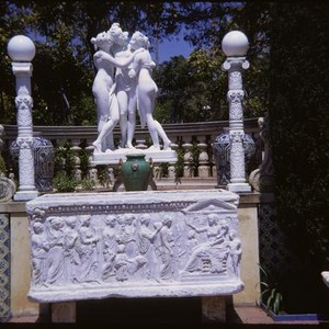 San Simeon, grounds, Three Graces, sculpture, sarcophagus