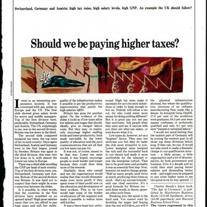 Charles Handy article on tax rates