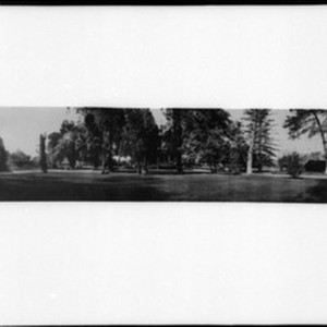 Panoramic view of the Huntington residence (Judge O.W. Childs Place), Los Angeles, ...