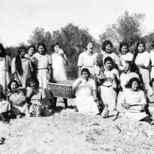 American Indian girls at Santa Ana River
