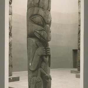 A little totem pole in Indian exhibit - Federal building - this ...