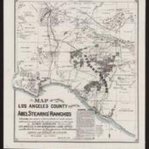 Map of a portion of Los Angeles County showing the Abel Stearns' ...