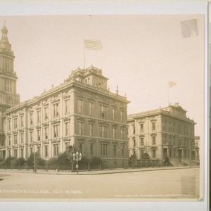 St. Ignatius Church. October 15, 1905. Van Ness and Hayes [now parking ...