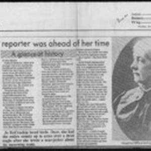 Newspaper reporter was ahead of her time