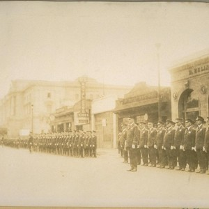 Inspection S.F. [San Francisco] Police - Capt. Chas. Goff in front - ...