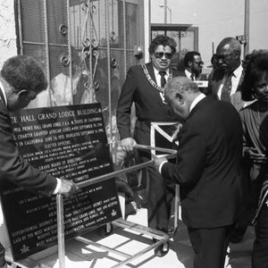 Crowd Observing Plaque, Los Angeles, 1986