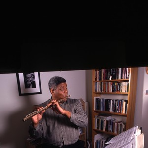 James Newton Playing a Flute