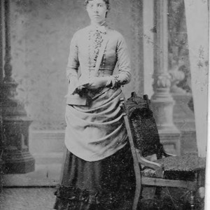 Unidentified young woman (possibly friend or family member of Otis Allen family) ...