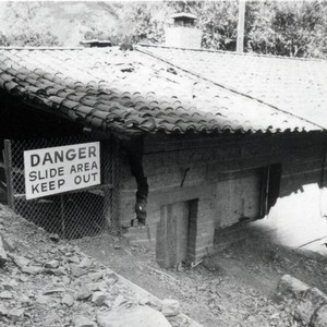 Silverado Fire Hall in 1969 flood