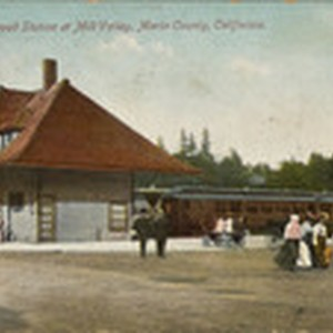 Railroad Station at Mill Valley, Marin County, California