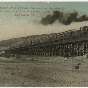 First Passenger Train over the San Diego & Arizona Ry., The New ...