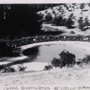 """Lake under construction at Welch-Hurst"""