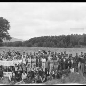 Group portrait of the attendees of a Russian River Institute conference