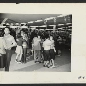 A regular Saturday evening dance at Terry Hall, a mess hall in ...