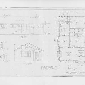 Architectural drawings for an unidentified Santa Rosa bungalow prepared by J. J. ...