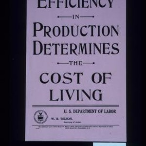 Efficiency in production determines the cost of living