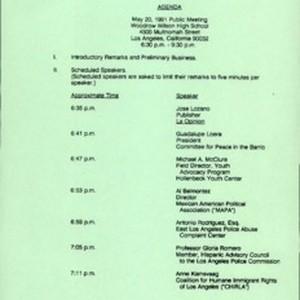Public session, 1991-05-20: materials from organizations, 2.4, 1991 May