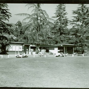 View of the Altadena Golf Course cart barn