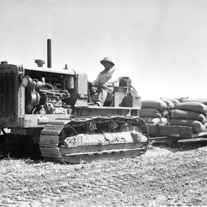 Tractor crew and machinery at Irvine Ranch, California: Photograph