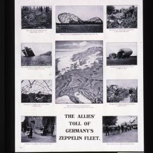 Frightfulness in ruins ... The Allies' toll of Germany's Zeppelin Fleet
